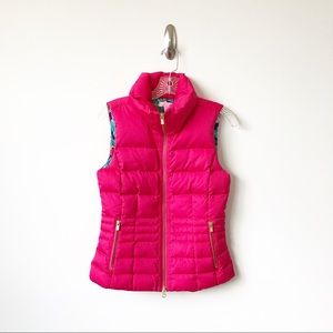 Lilly Pulitzer Jackets & Coats - Lilly Pulitzer Syd Puffer Vest Pomegranate Pink